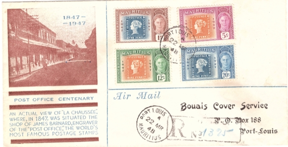 1948 Post office centenary 22 MArch