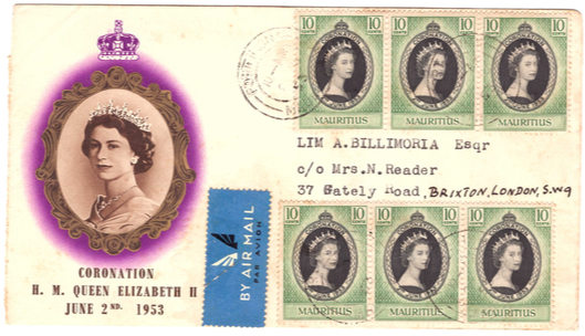 1953 coronation 6 stamps