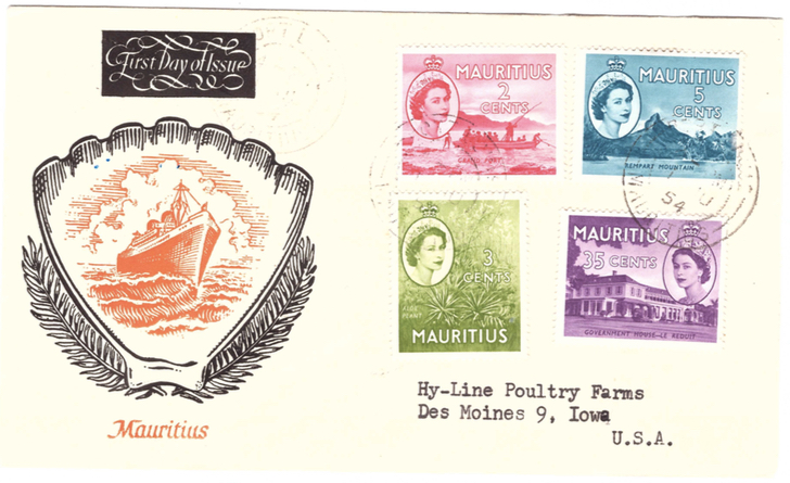 1954 1 July - first day of issue
