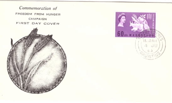 1963 Freedom from humger FDC
