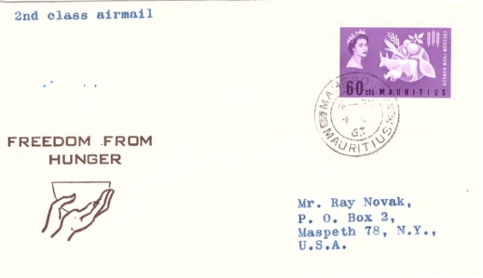 1963 Freedom from hunger special cover