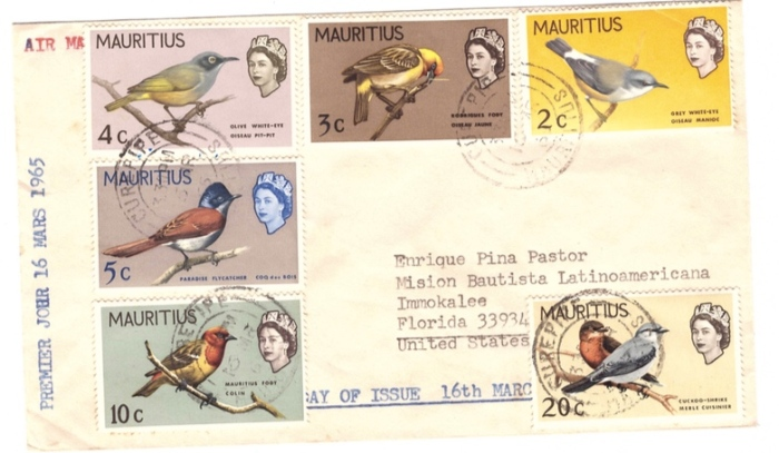 1965 Birds issue special cover