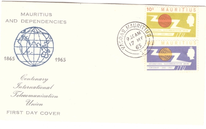 1965 Mauritius and dependencies FDC