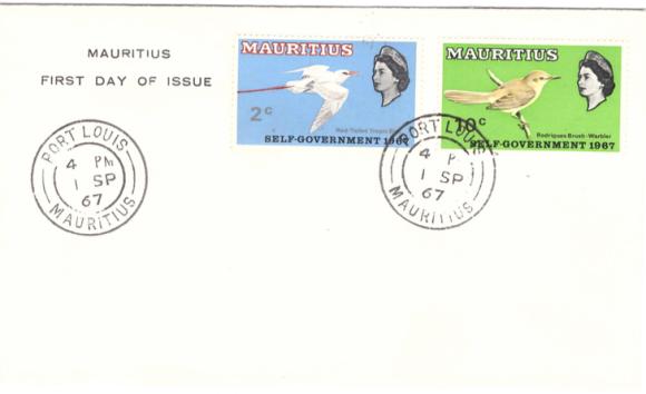 1967 Bird issue self Gov FDC Sep