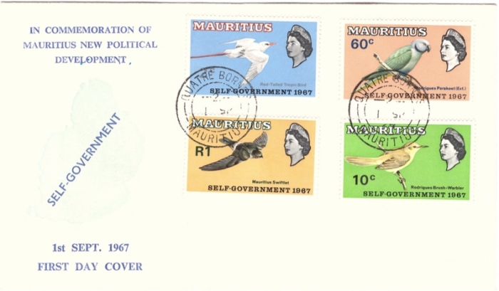 1967 Self Gov Commemorative issue Birds Sep