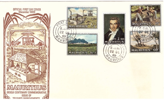 1969 Anniv of sugar industry FDC