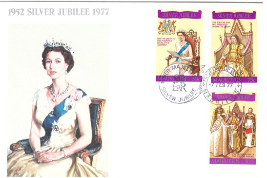 1977 7 Feb - Silver jubilee coronation special cover