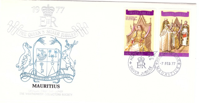 1977 7 Feb - Silver jubilee coronation Westminster collection comm cover
