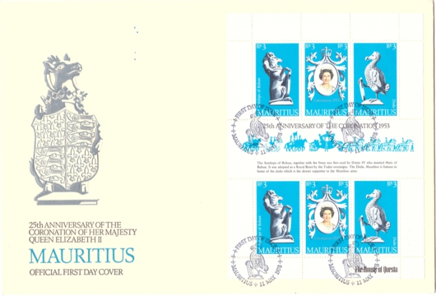 1978 11 May - 25th anniv of coronation QE II - sheet cover