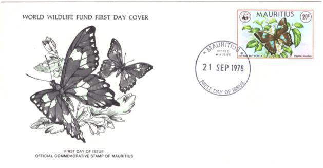 1978 21 Sep - Mauritius world wild life - SC 1