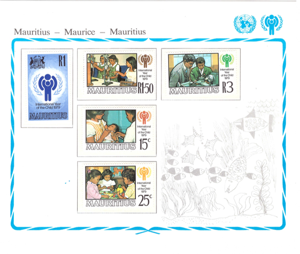 1979 11 Oct - International year of the child - stamp sheet