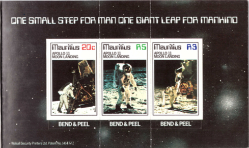 1979 Commemoration Apollo 11 - stamps inside booklet