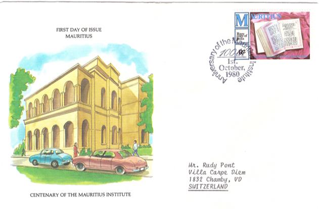 1980 1 October - 100th of Mauritius institute SC