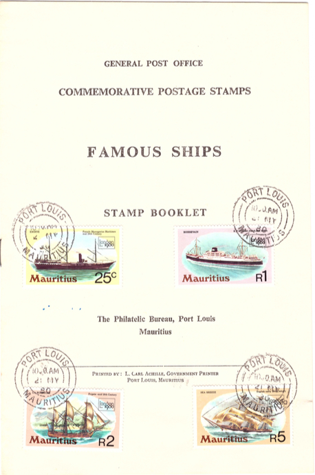 1980 2 May - famous ships stamp booklet