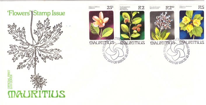 1981 15 Jan - Flowers' stamps OFC