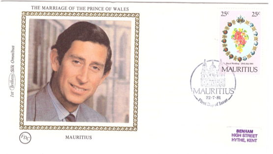 1981 22 July - Marriage prince of wales Benham silk collection 1