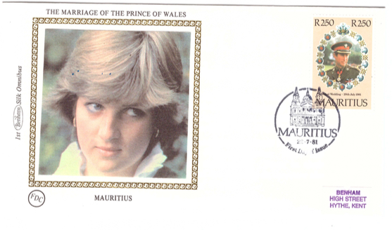 1981 22 July - Marriage prince of wales - Benham silk collection 2