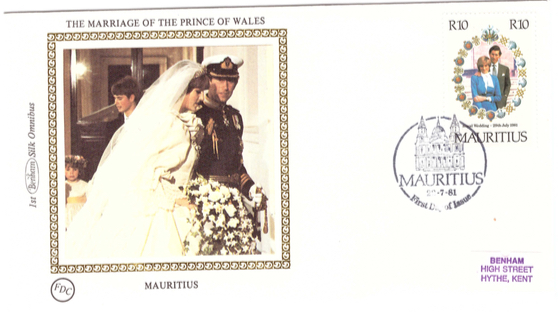 1981 22 July - Marriage prince of wales Benham silk collection 3