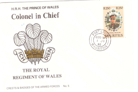 1982 1 July - HRH Prince of Wales Colonel in chief SC