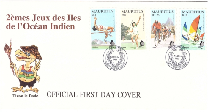 1985 24 Aug - 2nd jeux des iles de l'ocean indien