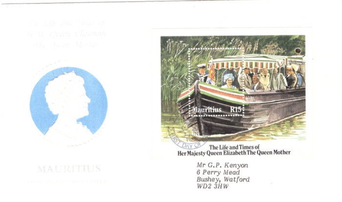 1985 7 June - life and stype of Queen Mother Sheet cover