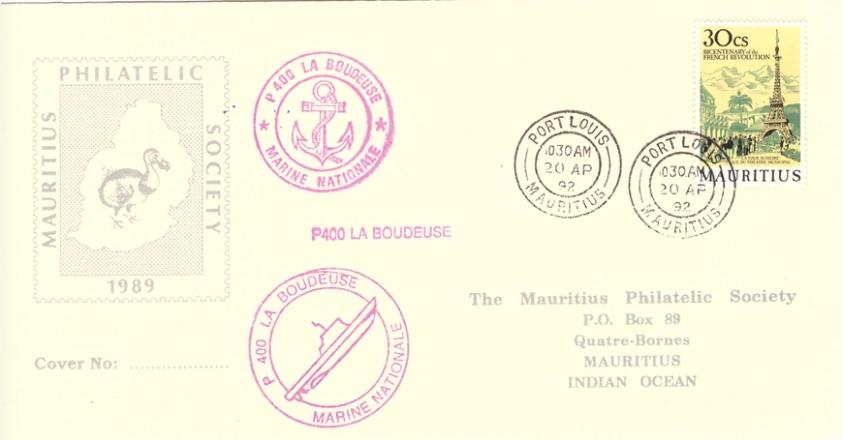 1992 20 April - P400 La boudeuse MPs SC