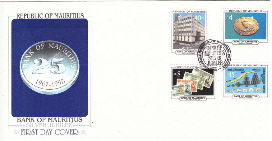 1992 29 Oct - Bank of Mauritius Silver Jubilee