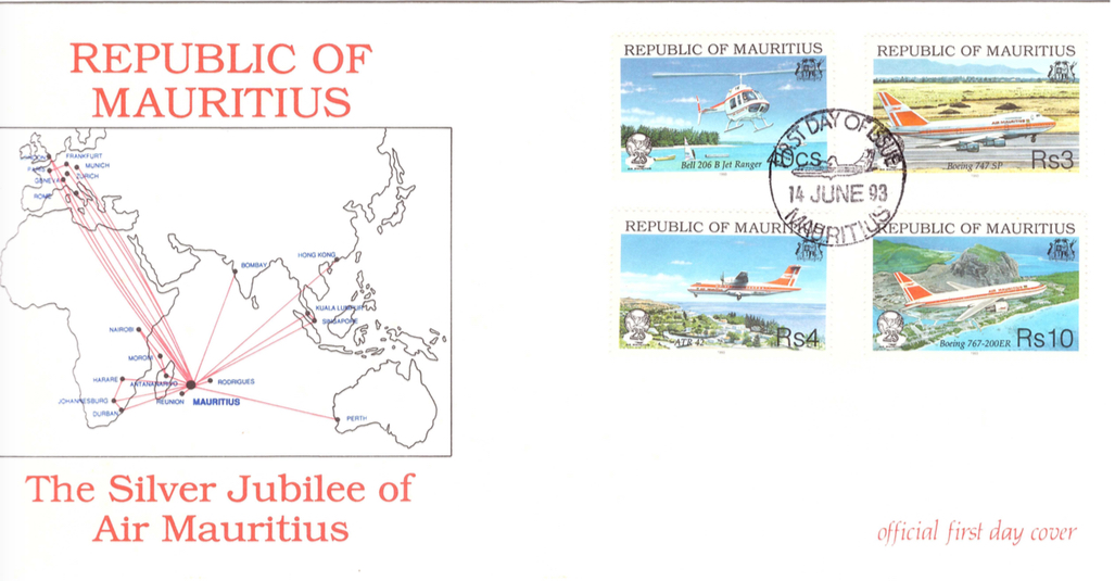 1993 14 June - Silver jubilee Air Mauritius
