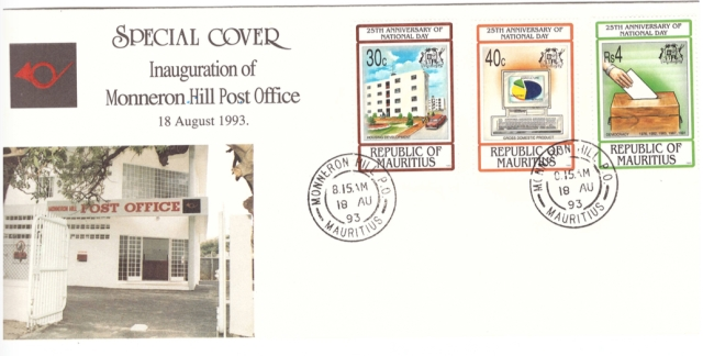 1993 18 Aug - Inauguration of Monneron Hill PO - SC