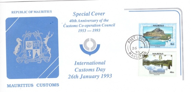 1993 26 Jan - 40th Anniv of customs council SC