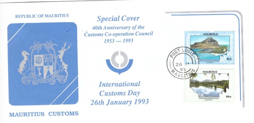 1993 26 Jan - 40th Anniv of customs council SC
