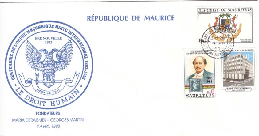 1993 4 April - centenaire de l'ordre maconnique mixte international