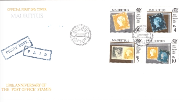 1997 22 Sep - 150th anniv of post office stamps