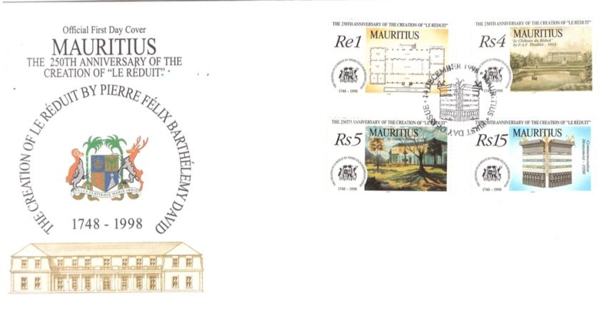 1998 14 Dec - 250th anniversary of Le Reduit