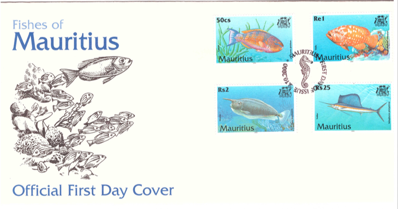 2000 9 Oct - Fishes of Mauritius FDC_1