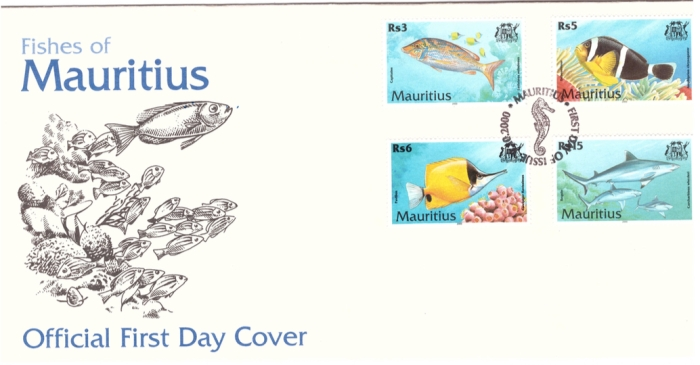 2000 9 Oct - Fishes of Mauritius FDC_2