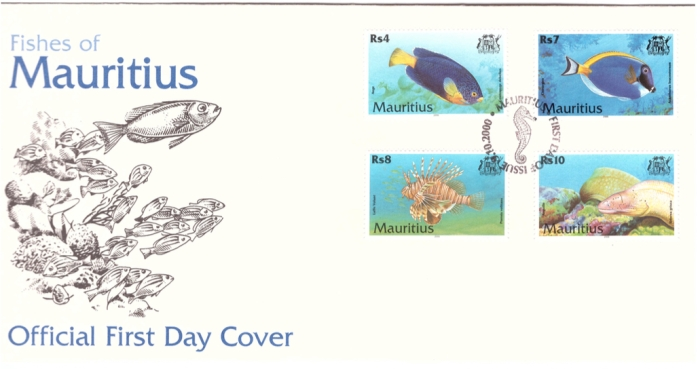 2000 9 Oct - Fishes of Mauritius FDC_3