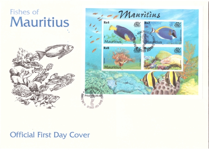 2000 9 Oct - Fishes of Mauritius Sheet Cover_3