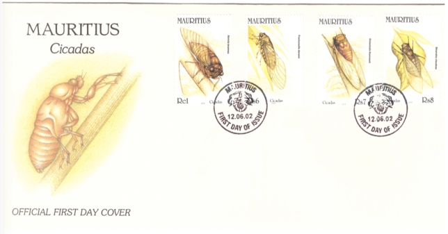 2002 12 June - Cicadas FDC