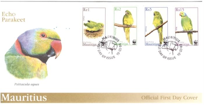 2003 19 March Echo Parakeet FDC