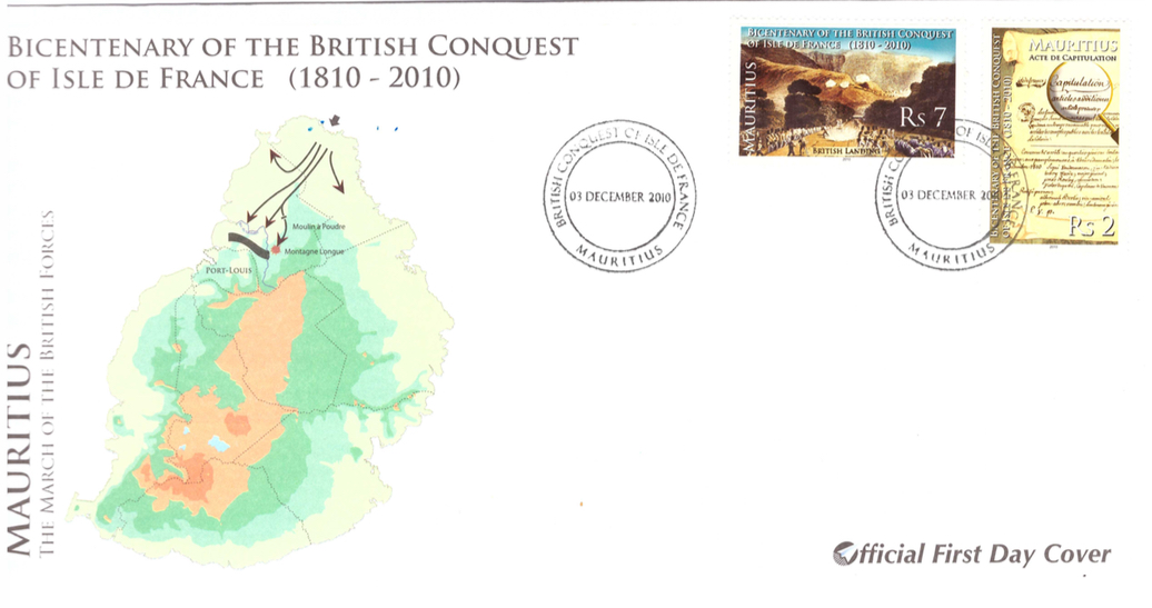 2010 3 Dec - Bicentenary of British conquest of isle de France