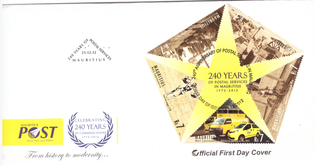 2012 21 Dec - 240 yrs postal services