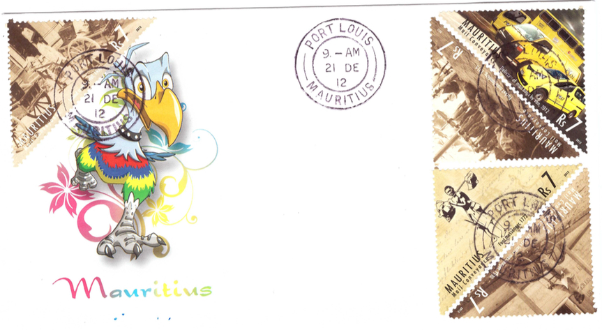 2012 21 Dec - special cover 240 postal services