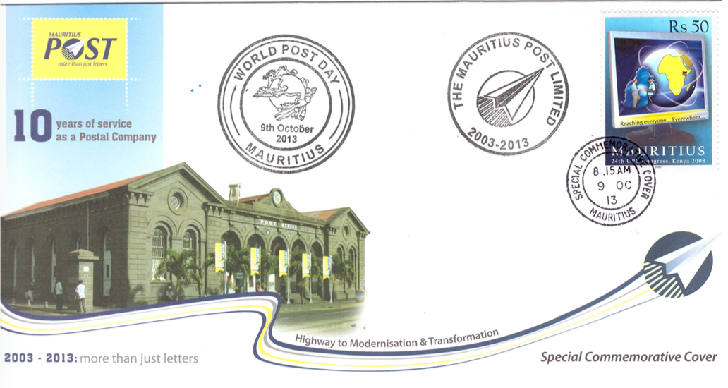 2013 9 Oct - 10 yrs Postal Company