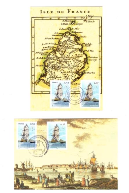 2015 25 Sep - 300e anniv debarquement francais postcards