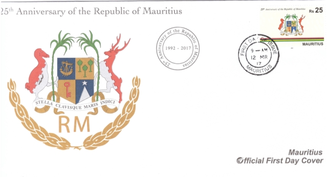 2017 - 12 March 25 Anniv Republic of Mauritius
