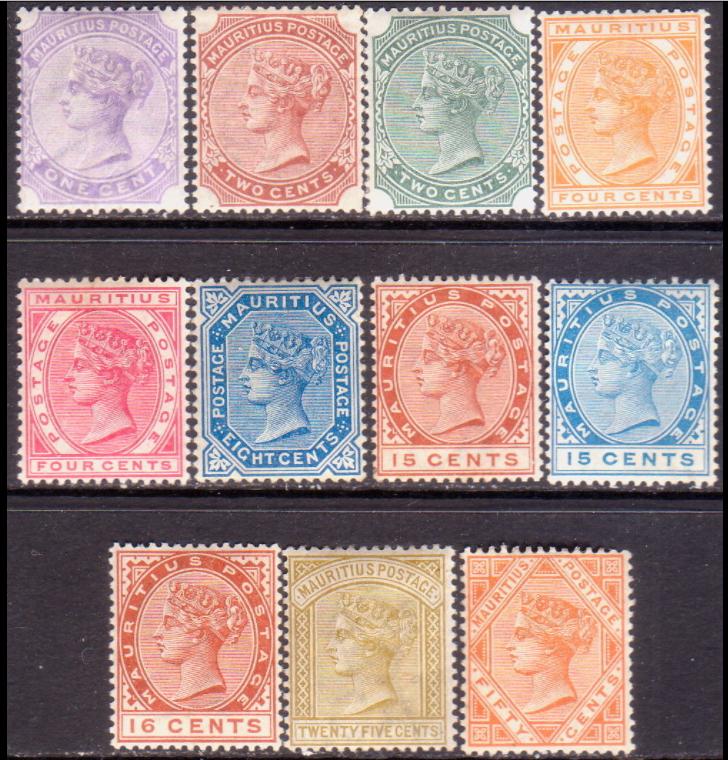 Q Victoria complete set 1883-94