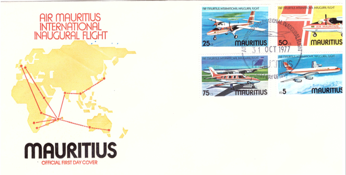 1977 31 oct - Air Mauritius inaugural flight