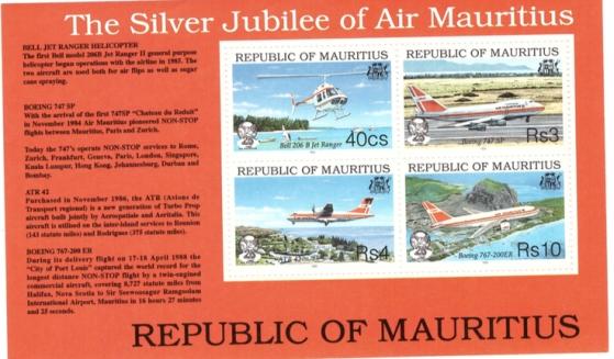 Silver jubilee Air Mauritius