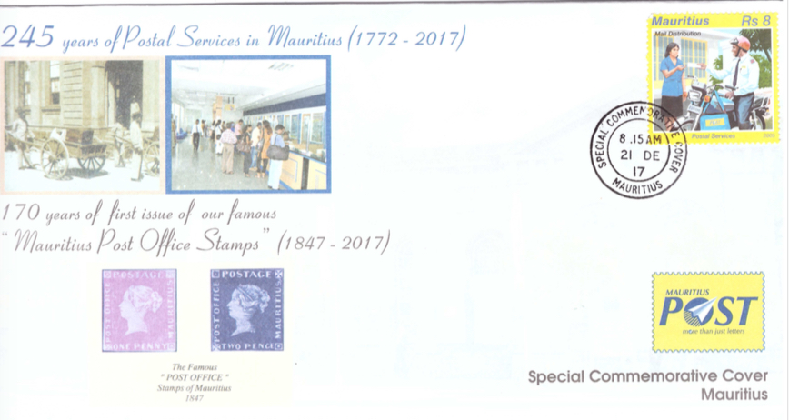 2017 - 245 yrs postal services